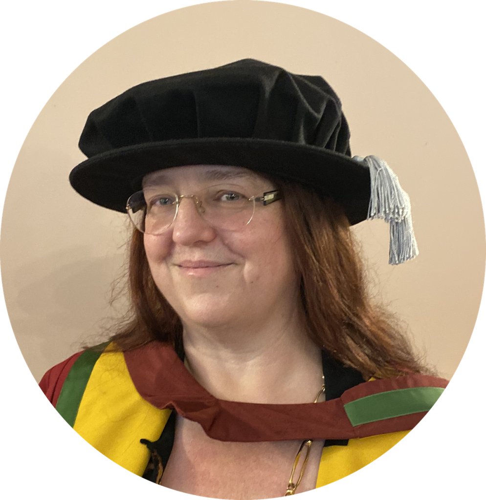 Picture of Dr Rox in her doctoral outfit, winner of the Emerald/EMFD Outstanding Doctoral Research Award for 2020 in HRM